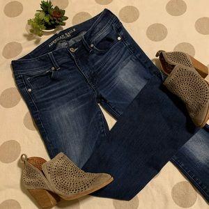 American Eagle kick boot cut blue jeans